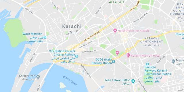 کراچی نقشہ